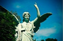 Movimento München - Motiv Skulptur Engel aus Marmor